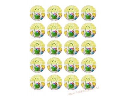 Jedlý papír Velikonoční kuřátka (mini obrázky)