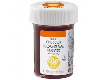 Gelová barva Wilton - oranžová