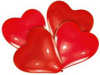 Balónky červené srdce 7ks