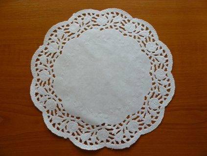 Papírová krajka pod dort kulatá, 24cm
