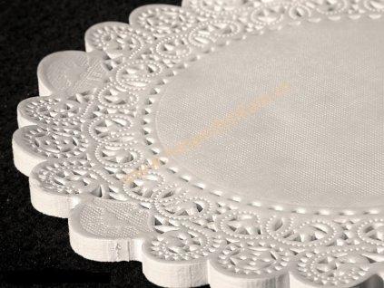 Papírová krajka pod dort kulatá, 28cm