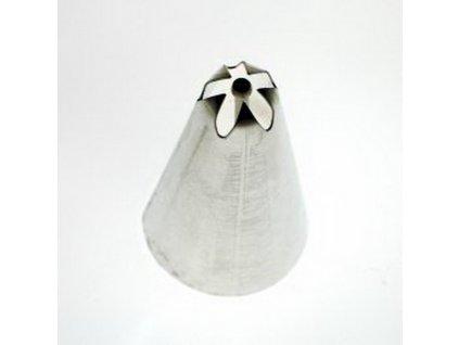 Zdobící špička klopená se středem, průměr 8mm-5 zubů
