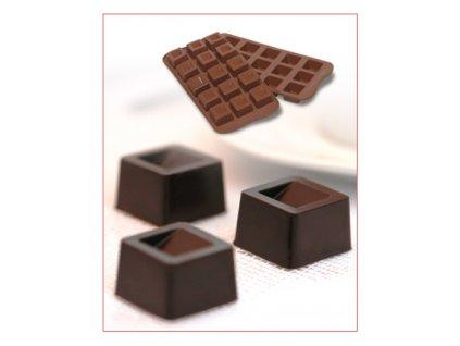 Silikonová forma na čokoládu Cubo