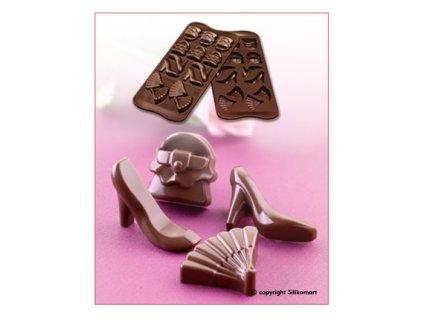 Silikonová forma na čokoládu Fashion