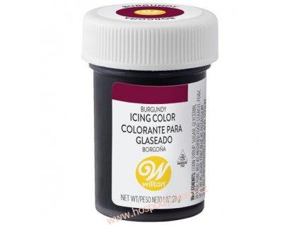 Gelová barva Wilton - vínová
