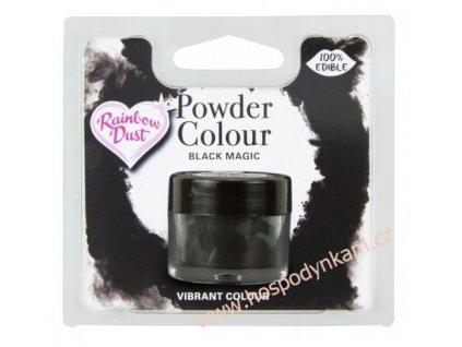 Prachová barva Black Magic