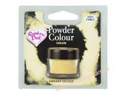 Prachová barva Cream