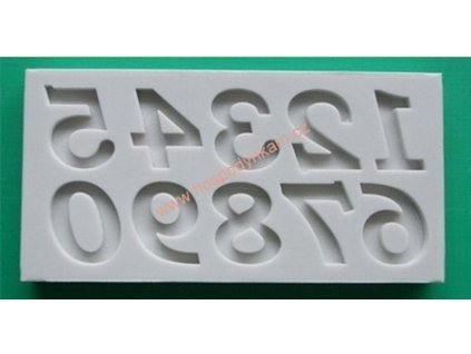Silikonová forma na marcipán - čísla