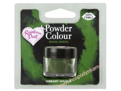 Prachová barva Moss Green