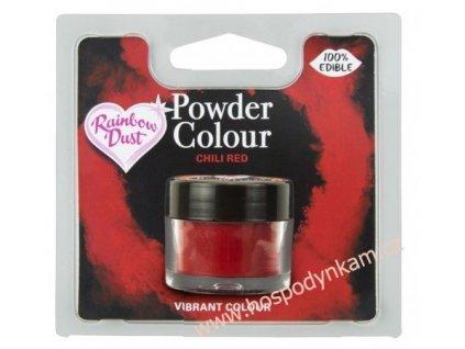 Prachová barva Chilli Red