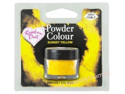 Prachová barva Sunset Yellow