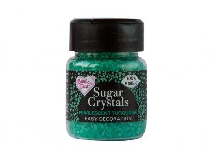 Cukrové krystaly Tyrkysové 50g