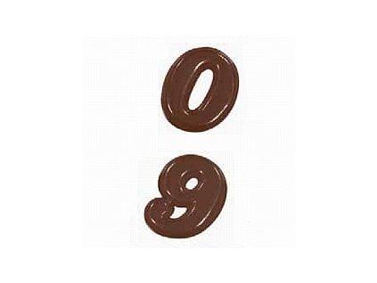 Forma na čokoládu čísla