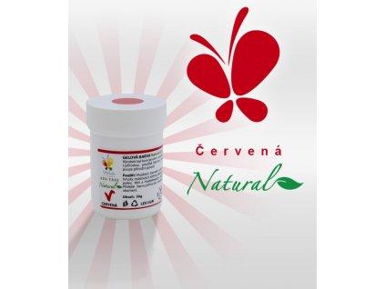 Přírodní gelová barva červená (azofree)