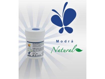 Přírodní gelová barva modrá (azofree)