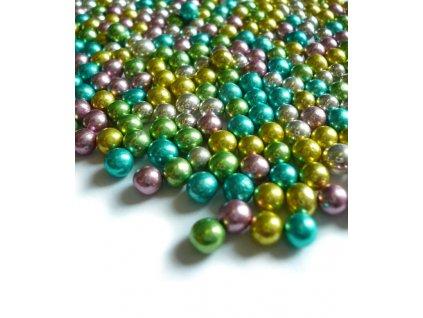 Cukrové zdobení - perličky duhové 50g