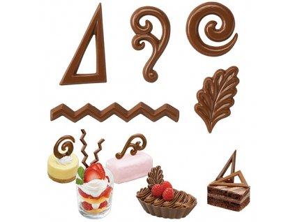 Forma na čokoládu - filigránky