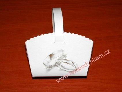 Košíčky na svatební koláčky s prstýnky, 10ks