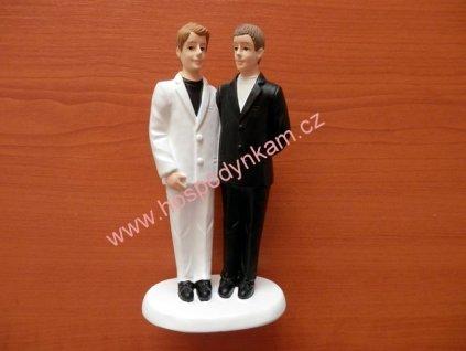 Figurka na dort - registrovaný pár, muži