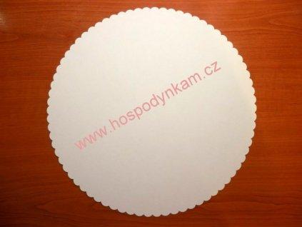 Dortová podložka bílá 25cm, 10ks