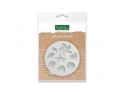 Silikonová forma na marcipán - mušle a hvězdice