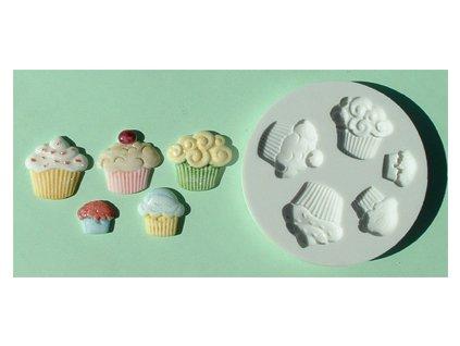 Silikonová forma na marcipán - muffiny
