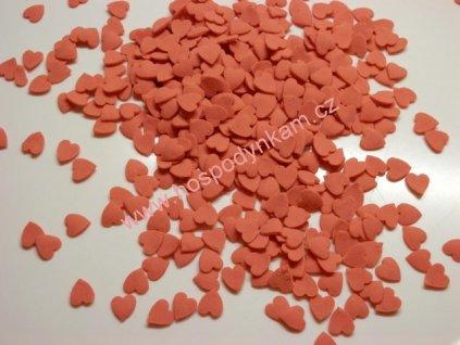 Cukrové zdobení - červená srdíčka 30g