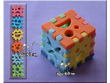 Silikonová forma na marcipán - 3D kostka
