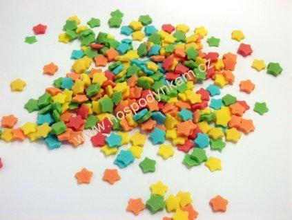 Cukrové zdobení - barevné hvězdičky 50g
