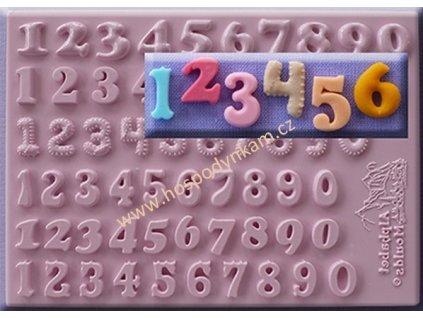 Silikonová forma na marcipán - 6 druhů číslic