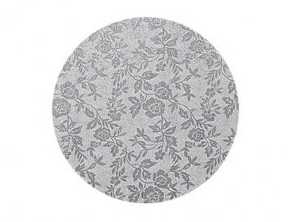 Stříbrný tác Modecor, kruh 35cm