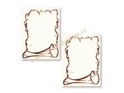 Jedlý obrázek pergamenový papír