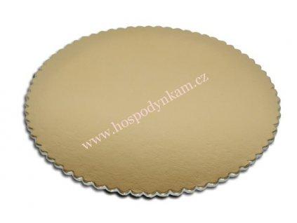 Tác na dort kartonový zlatý 22cm