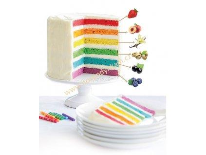 Směs na duhový dort Rainbow 600g