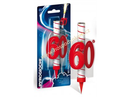 Dortová svíčka fontána - 60. narozeniny