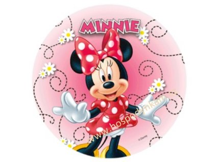 Jedlý papír Minnie stojící s kopretinami