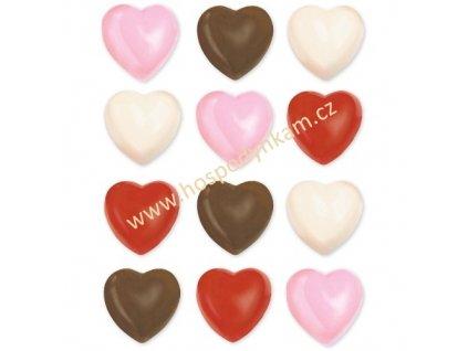 Forma na čokoládu - srdíčka