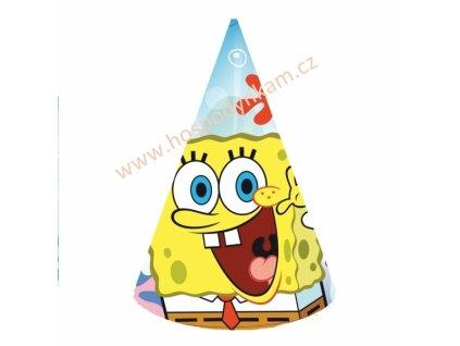 Papírové čepičky Spongebob