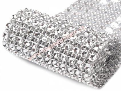 Diamantový pás stříbrný šíře 58mm (3m v balení)