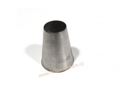 Zdobící špička hladká průměr 20mm