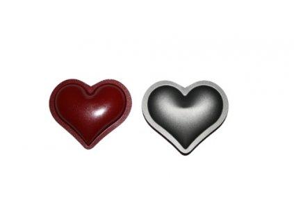 Formičky teflonové Kulaté srdce, 20ks