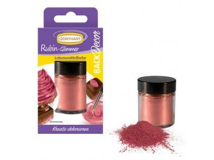 Jedlá barva rubínový prach 7g