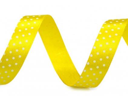 Stuha žlutá s puntíky 22,5m