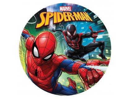 Fondánový obrázek Spiderman