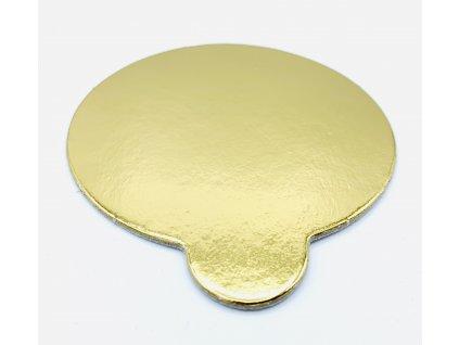 Dortová podložka na monoporce zlatá 8cm