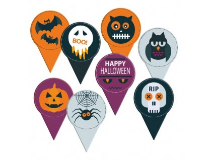 Zapichovací dekorace Halloween 10ks