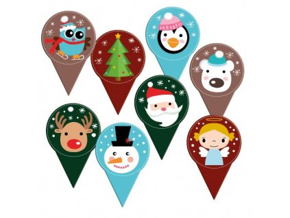 Zapichovací dekorace Vánoce 10ks