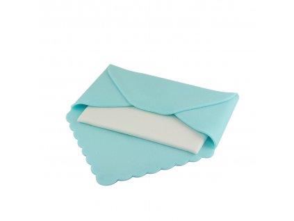 Cukrová dekorace Modrá dopisní obálka