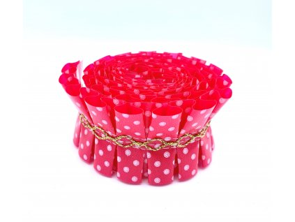 Ozdobná stuha na dort červená 1m