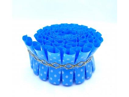 Ozdobná stuha na dort modrá 1m